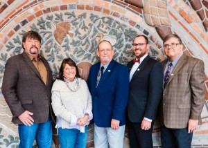 L-R: Commissioner Doherty (Morrow), Commissioner Martha Schrader (Clackamas), Commissioner Craig Pope (Polk), Commissioner Alex Tardif (Columbia), Commissioner Bill Hall (Lincoln)