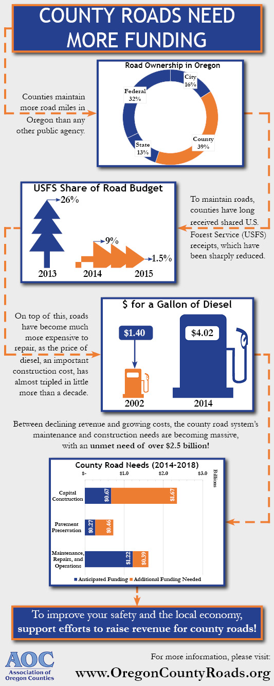 County Roads Infographic