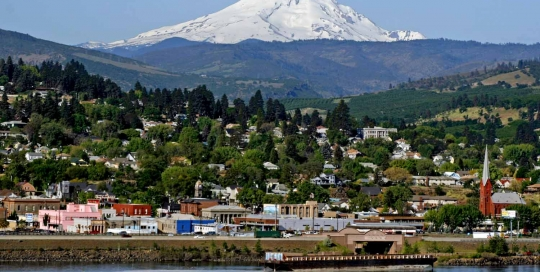 Wasco County Mt Hood from Dallesport, Image Credit The Dalles Chamber of Commerce