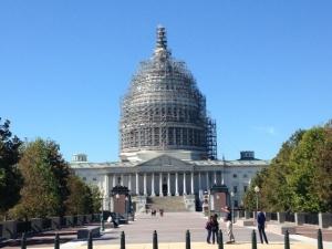 U.S. Capitol under construction. Photo taken October 5th.