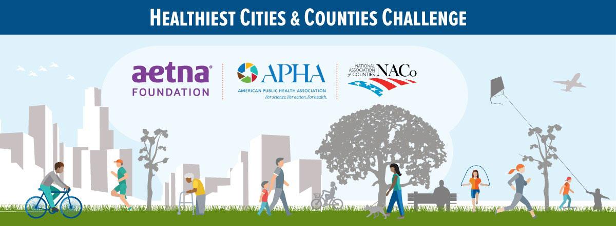 Healthiest Cities & Counties Challenge banner