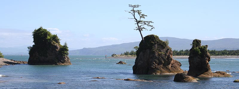 3 Graces rocks Pacific Ocean in Tillamook County