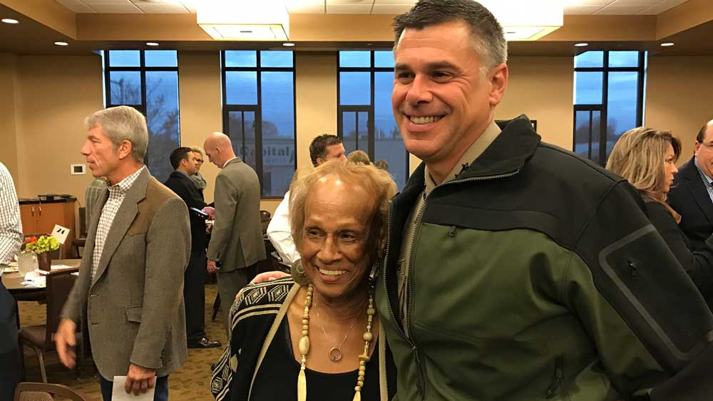Marion County Sheriff Jason Myers with State Sen. Jackie Winters