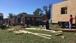 Tiny Houses under construction for Veterans in Kansas City, Missouri