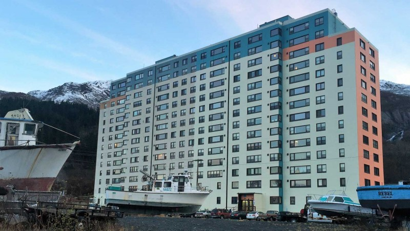 Building in Whittier Alaska
