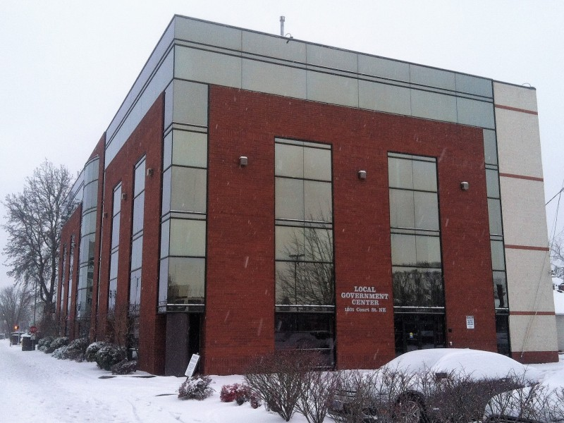 Local Government Center in snow
