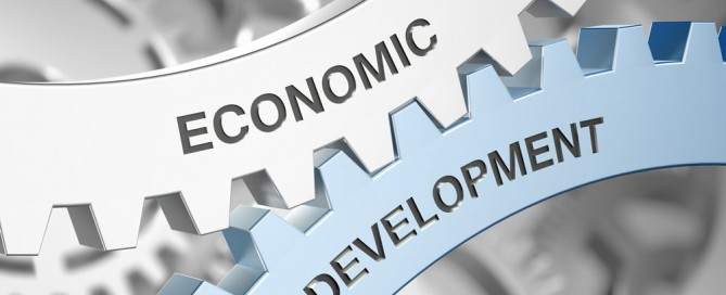Economic Development etched into 2 gears