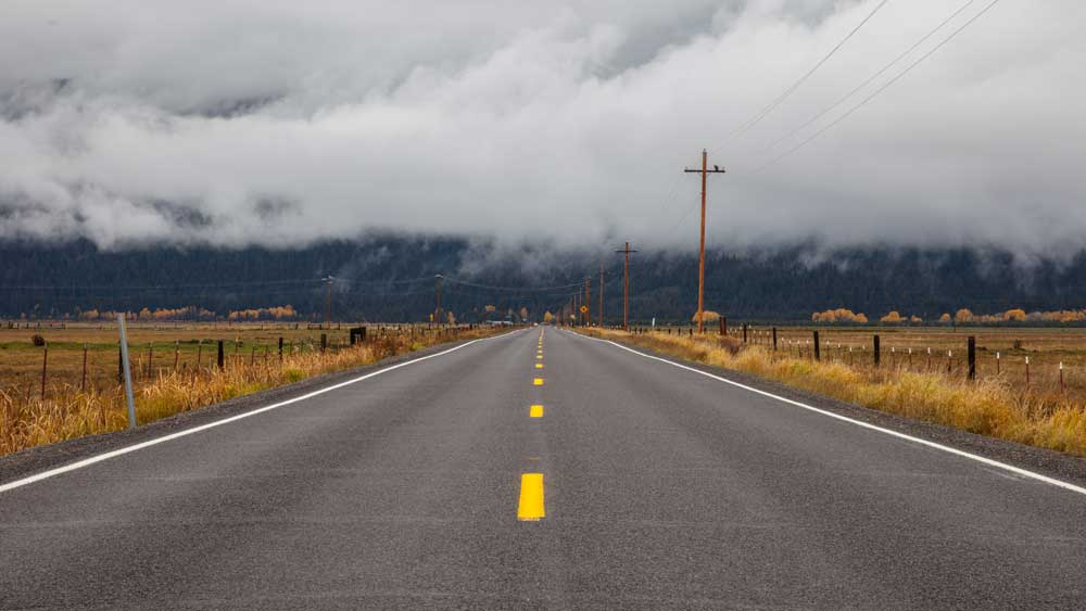 road towards the clouds
