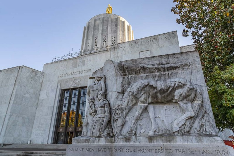 Oregon State Capitol In Salem, Oregon