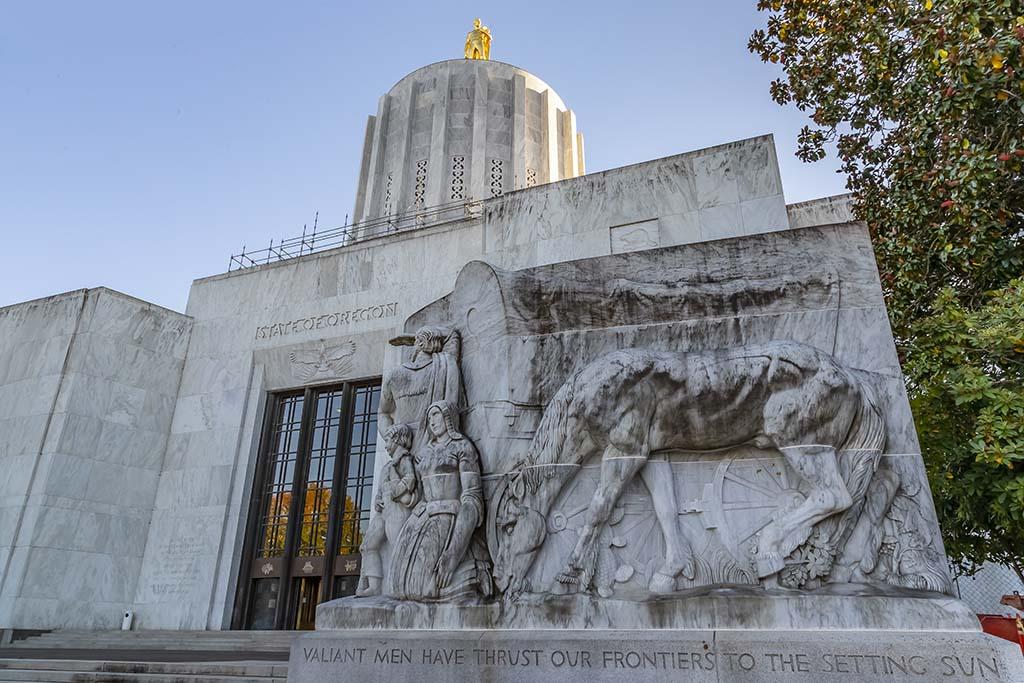 Oregon State Capitol In Salem, Oregon