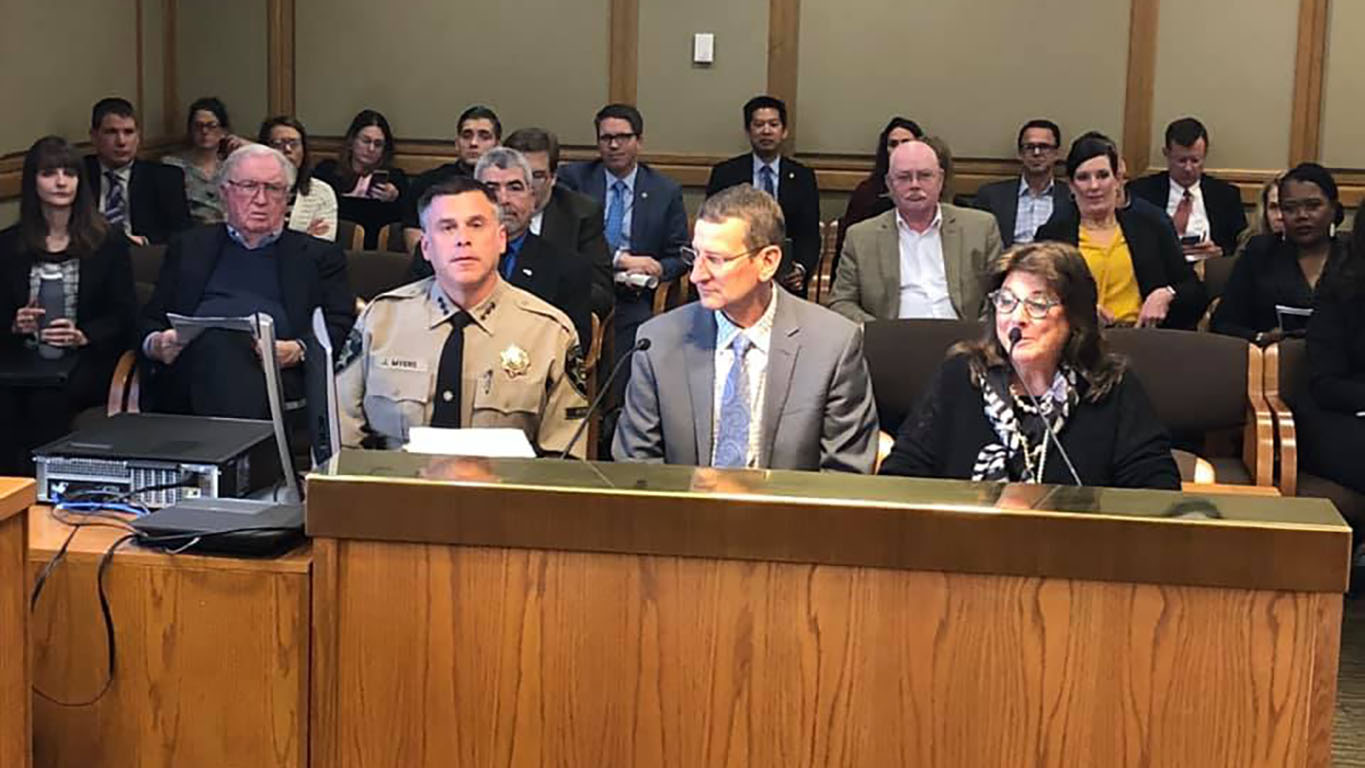 Commissioners and Sheriff Testify on DOC Budget